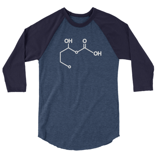 Ketone (Beta-hydroxubuterate) 3/4 Sleeve Raglan Shirt