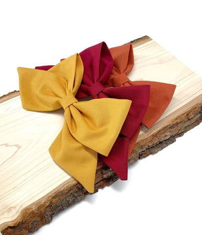 Fall colors Olivia bows