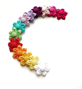 Mini Solid Color Flower bows