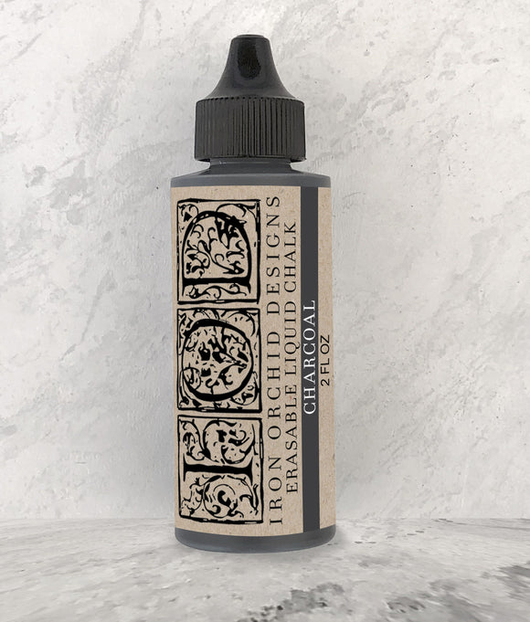 IOD Decor Erasable Liquid Chalk Charcoal - Art by Julie Bledsoe