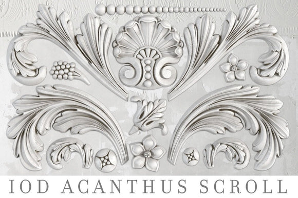 IOD Decor Mold Acanthus Scroll