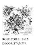 IOD Decor Stamp Rose Toile - Art by Julie Bledsoe