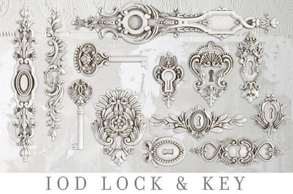 IOD Decor Mold Lick and Key - Art by Julie Bledsoe
