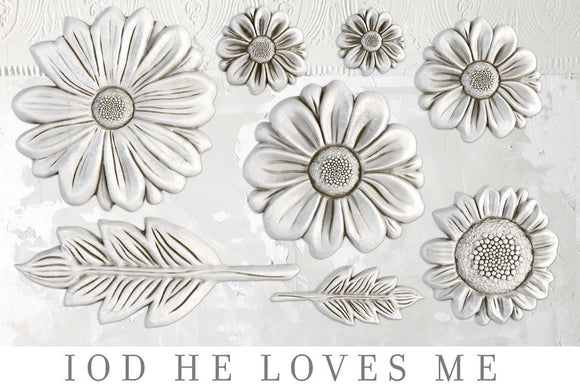 IOD Decor Mold He Loves Me - Art by Julie Bledsoe