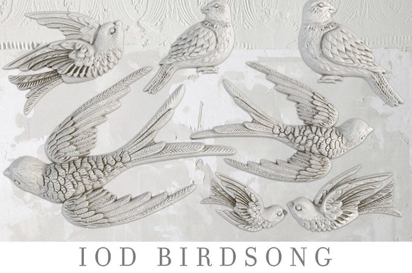 IOD Decor Mold Birdsong - Art by Julie Bledsoe