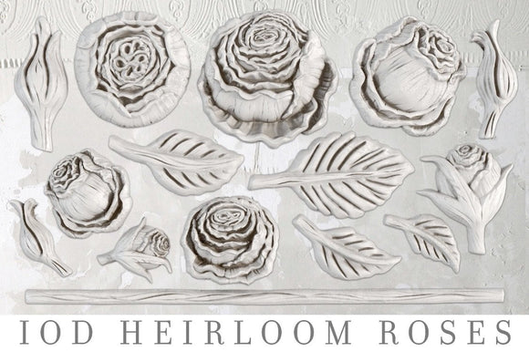IOD Decor Mold Heirloom Roses - Art by Julie Bledsoe