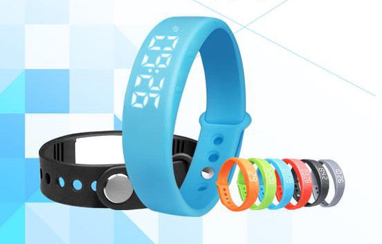 Multi-functional LED USB Smart Bracelet Watch w/ 3D Pedometer