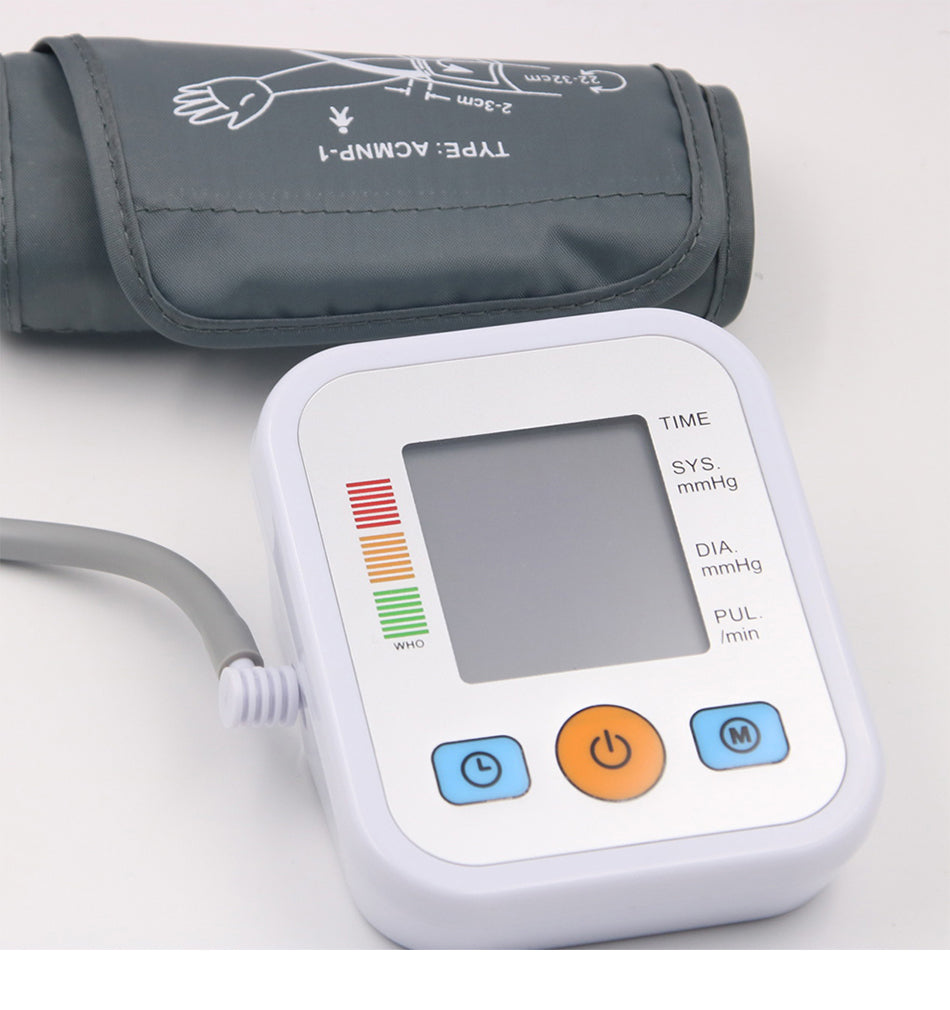 Portable Digital Blood Pressure Monitor USB or Batteries