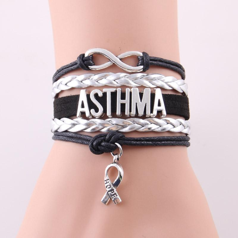 Infinity hope ASTHMA awareness bracelet