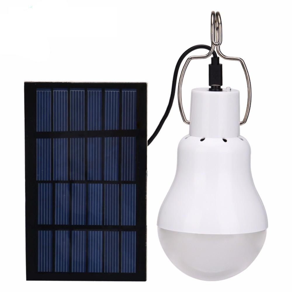15W 130LM Solar Powered LED Lamp