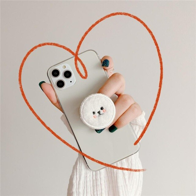 Popular Plush Teddy Expanding Phones Holder