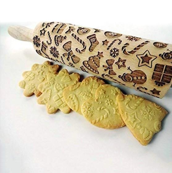 Christmas Patterned Dough Roller