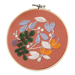 Easy Flower Embroidery Kit Stitch Needlework for Beginner