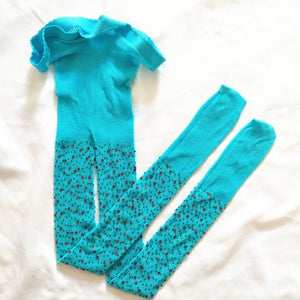 Kids Fishnet Tights with Gem Stones