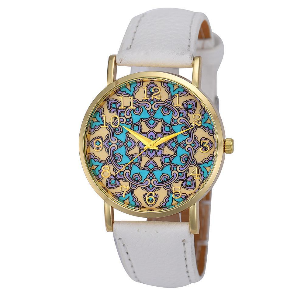 Luxury Faux Leather Indian Boho Style Watch