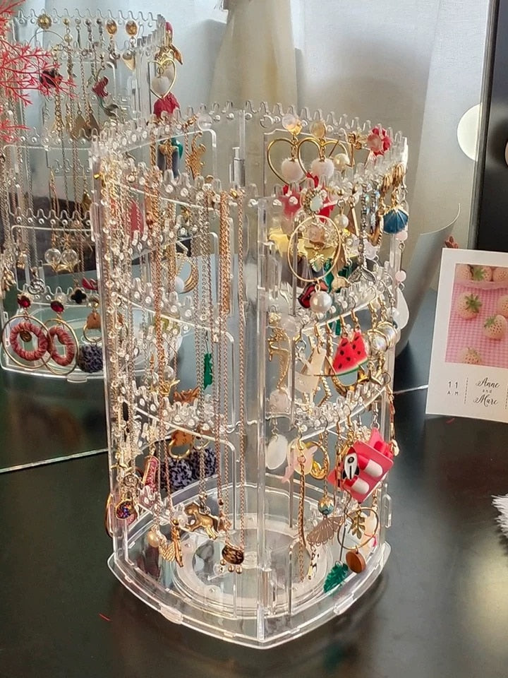 Amazing Rotating Jewelry Display