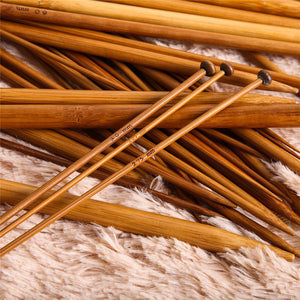 36Pcs Carbonized Bamboo Knitting Needles Set