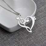 Heart shape Clef/Treble necklace