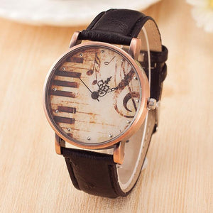 Piano Retro Musical Watch