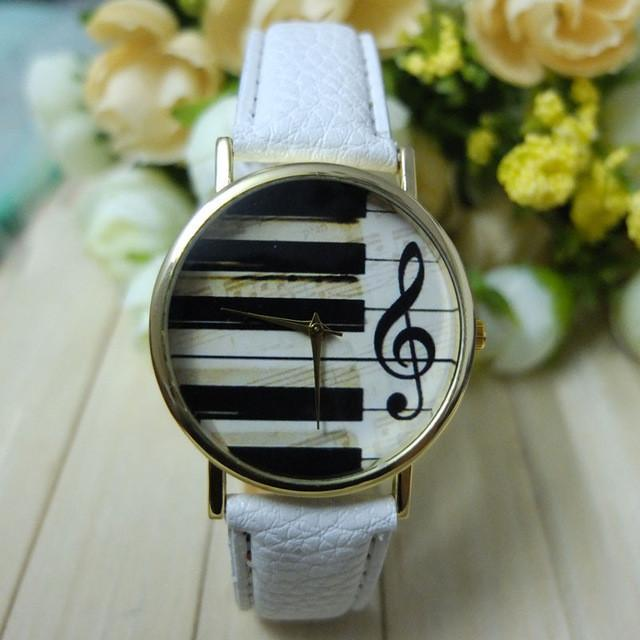 Piano Keyboard Musical Note Watch