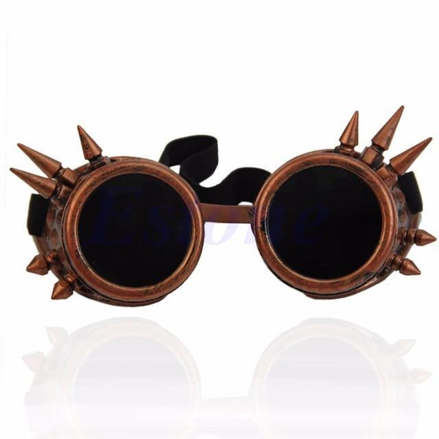 Victorian Gothic Cosplay Rivet Steampunk Glasses