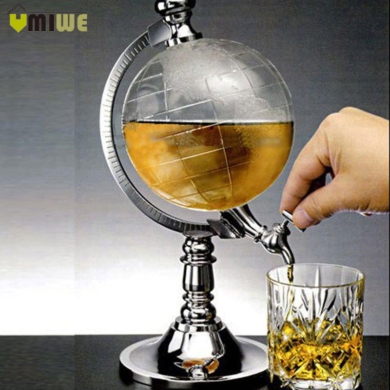 1692 Vintage Behaim Whiskey Globe Dispenser