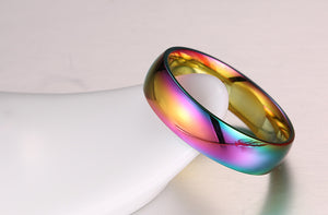 Unicorn Rainbow Titanium Steel Ring