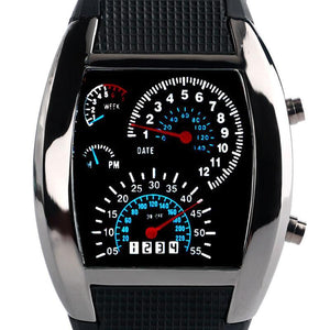 Moto Speedometer Digital Watches