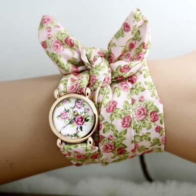 Ribbon Flower Watch