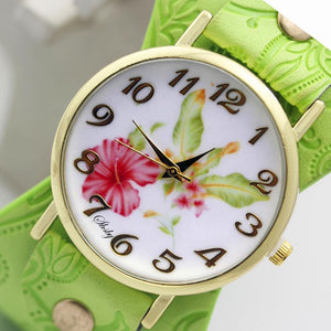 Floral Bangle Style Watch