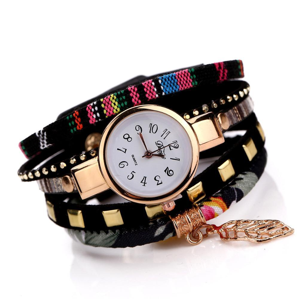 Leaf Fabric Bracelet Watches