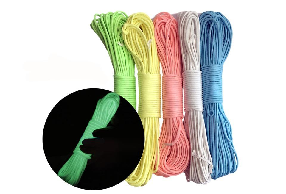Glow In The Dark Luminous Tent Peg Rope