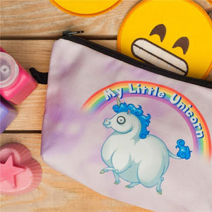 Unicorn Rainbow Cosmetic Case