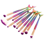 Hot 10pcs/15pcs Mermaid Brushes Makeup Set