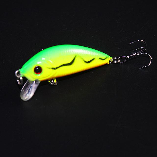 1Pcs topwater Fishing Lure 5cm 3.5g Artificial Hard Bait Wobbler Spinner Japan Mini Crankbait Carp fishing YE-204