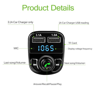 FM Transmitter Mp3 Player and Bluetooth Handsfree Car Kit