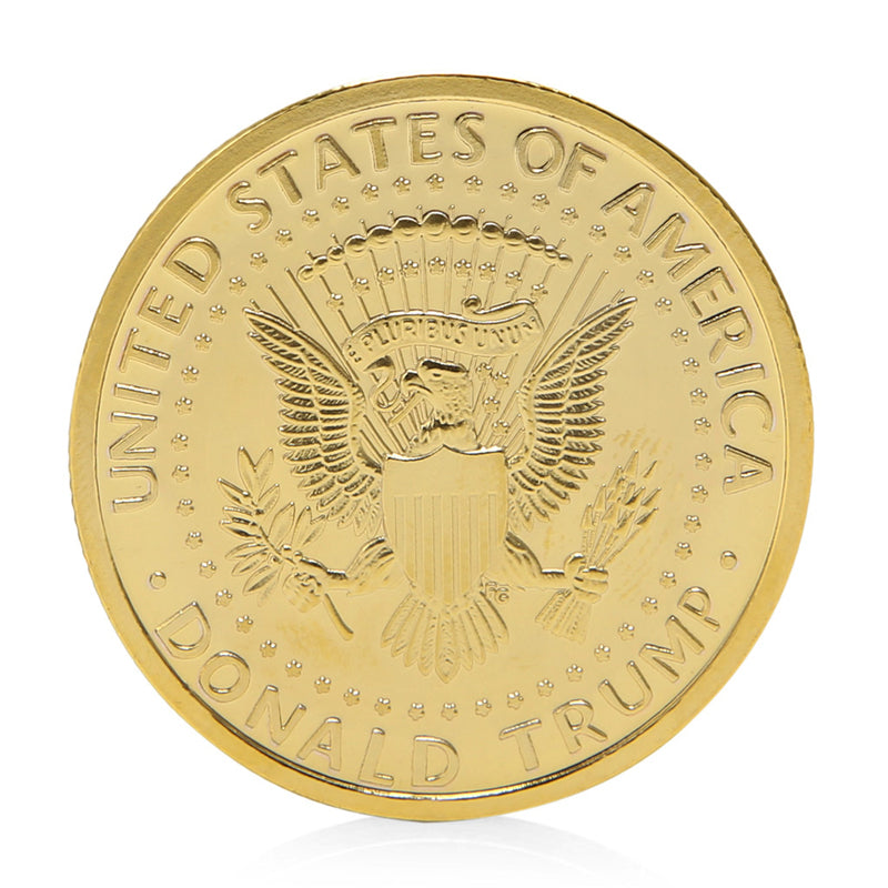 Golden Donald Trump Presidential Coin 2016