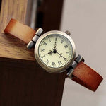 Roman Dial Styled Leather Watch