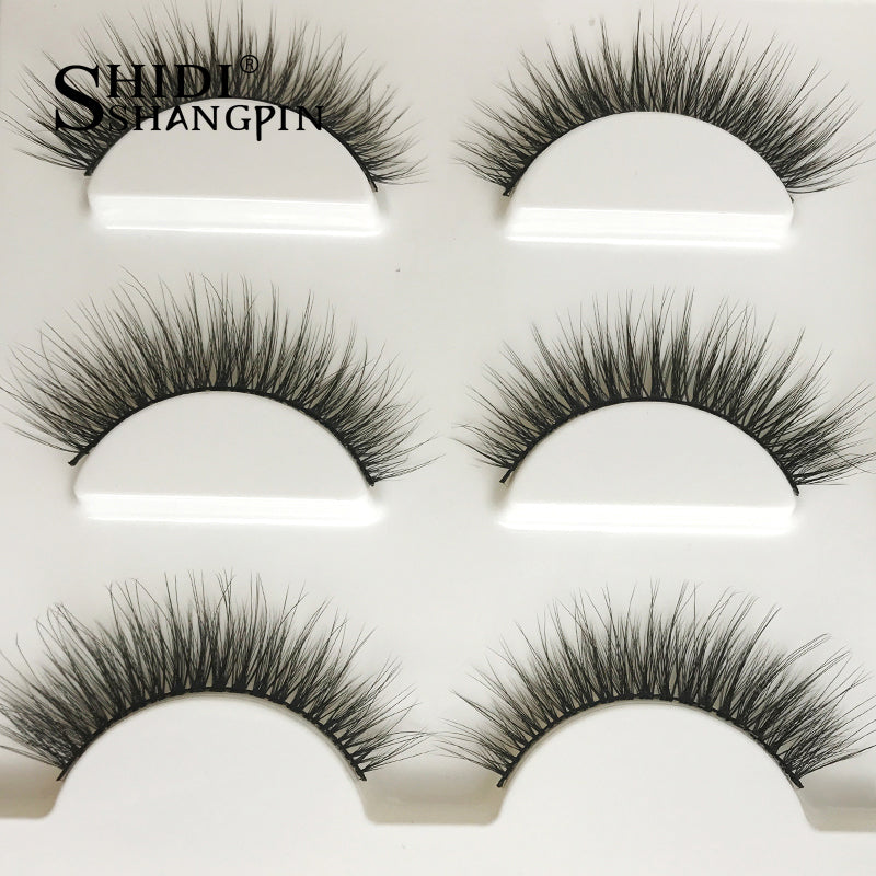 3 Pairs Natural 3d Mink Eye Lashes