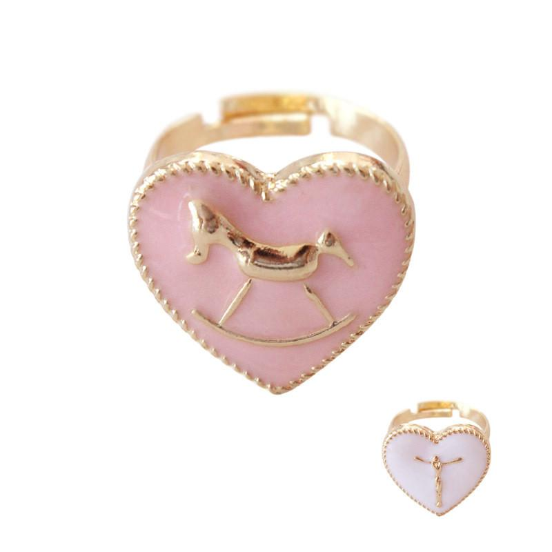 Cute Unicorn Heart Ring
