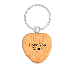 Family Wooden Key Chain