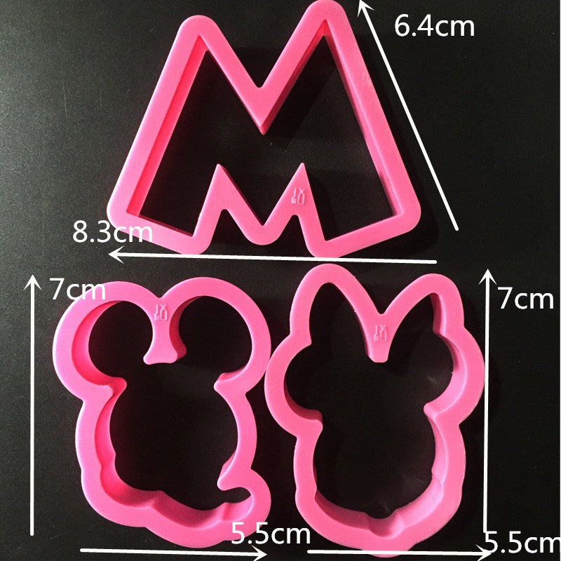 Creative 5pcs/set Cartoon  Cookies Cutter Mold