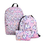UNICORN 3 Piece Backpack SET