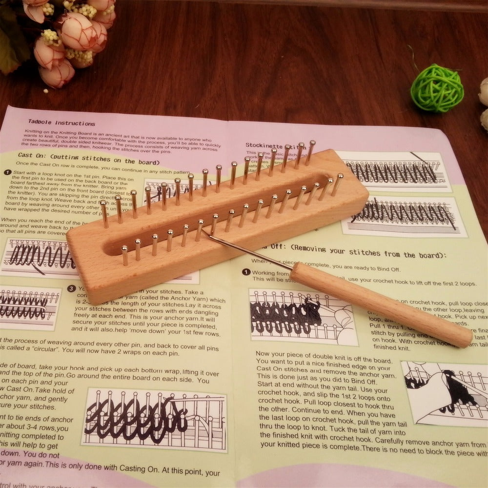 Wooden yarn Knitting Loom