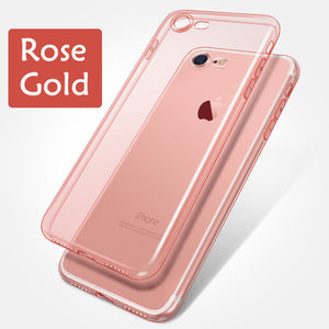 Clear Silicon Ultra Thin Soft TPU Case For iPhone