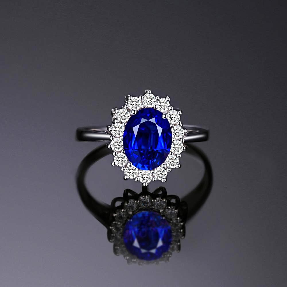 Royal Blue Sapphire 925 Sterling Silver Ring