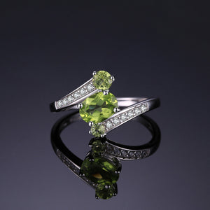 Natural Peridot August Birthstone  Ring