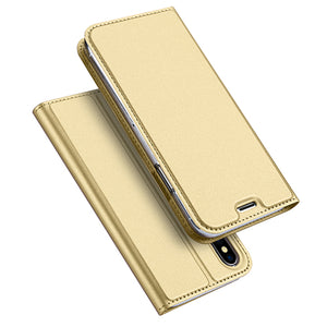 Luxury Leather Case for iPhone X, 10