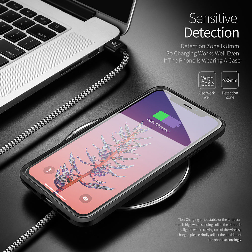 Wireless Charger for iPhone X 8 Samsung Galaxy S9 S8