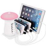 Mushroom Multi Port USB Charger  for Mobile Phone and Tablet